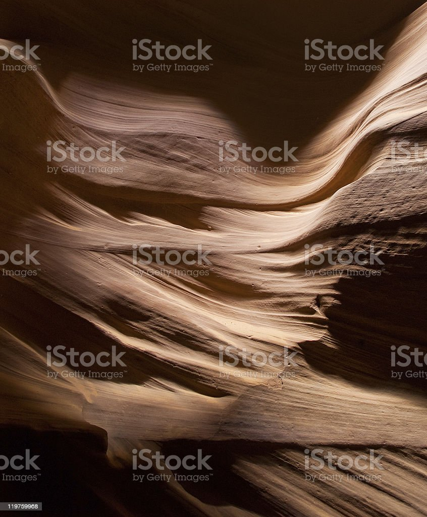 The Antelope Canyon royalty-free stock photo
