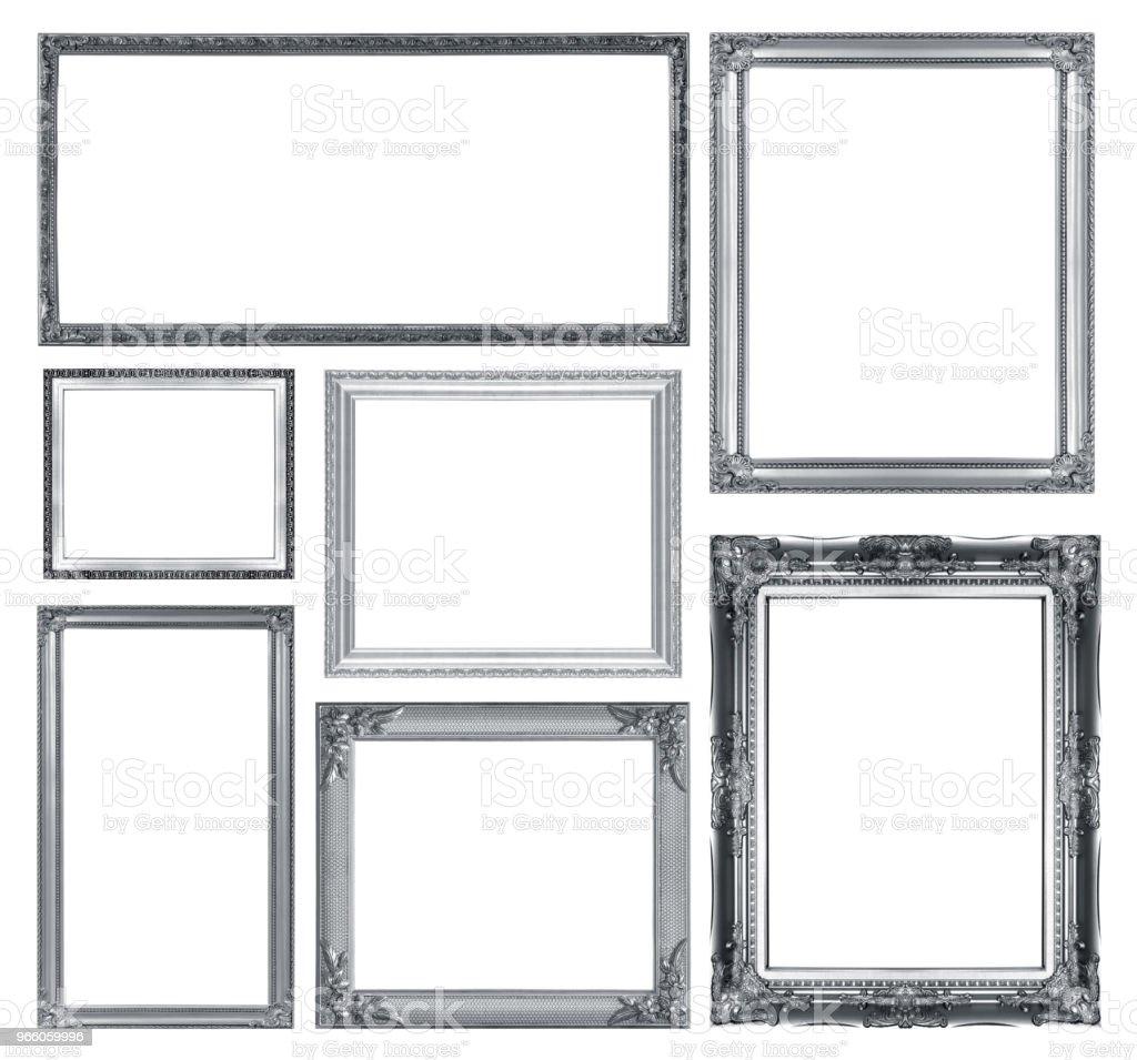 Die antiken Rahmen auf dem weißen Hintergrund - Lizenzfrei Alt Stock-Foto
