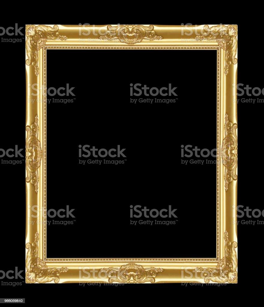 Ramen för antik guld på svart bakgrund - Royaltyfri Antik Bildbanksbilder