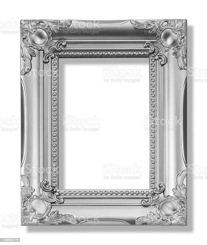 Het antieke gouden frame op de witte achtergrond - Royalty-free Antiek - Ouderwets Stockfoto