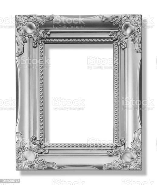 Het Antieke Gouden Frame Op De Witte Achtergrond Stockfoto en meer beelden van Antiek - Ouderwets