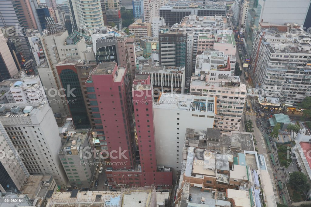 the Apartement building in Tsim Sha Tsui stock photo