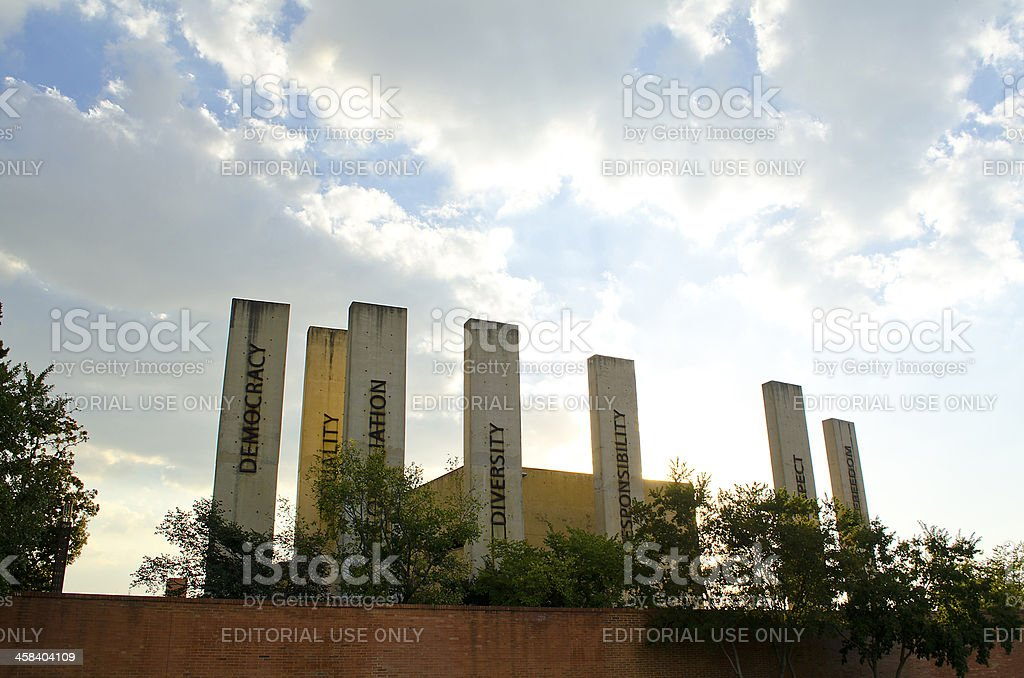 The Apartheid Museum Johannesburg, South Africa. stock photo