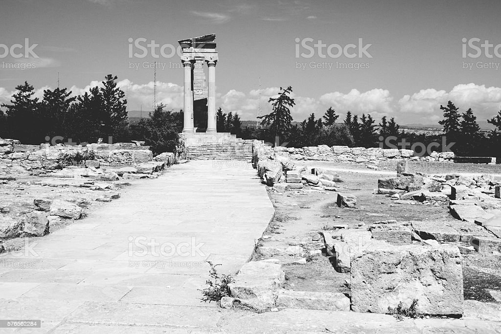 The Apollo Temple in Kourion, Cyprus – Foto