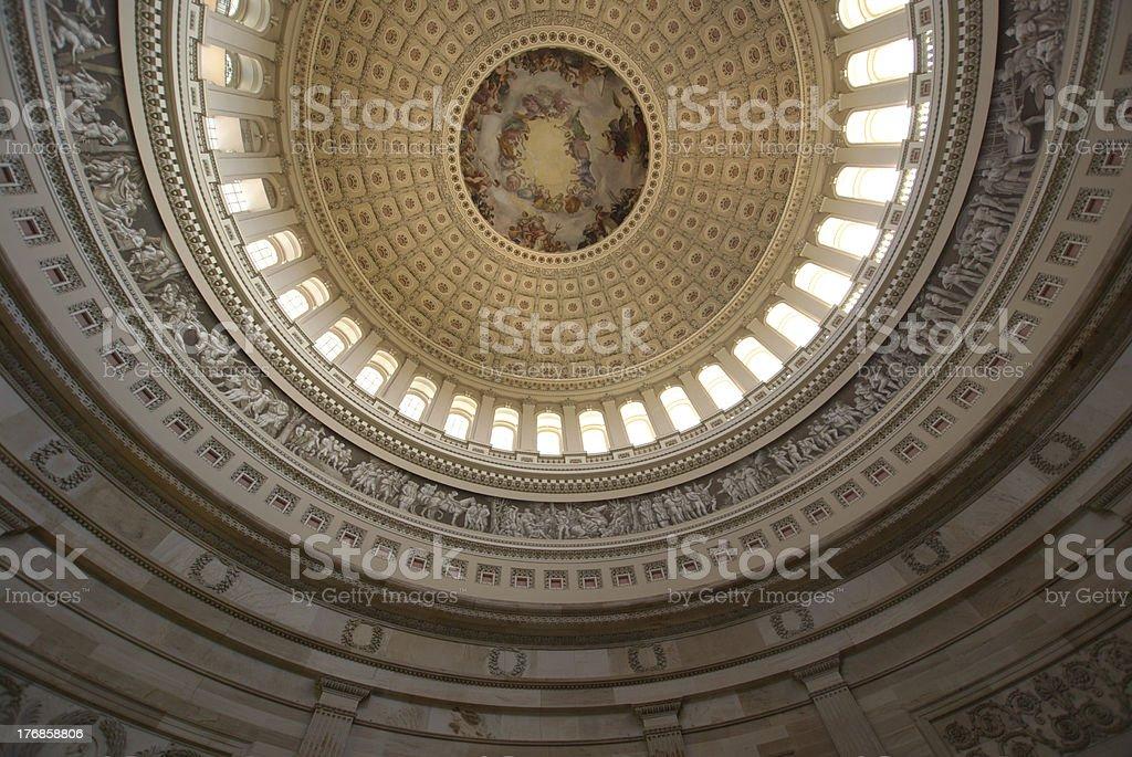 The Apotheosis of Washington stock photo