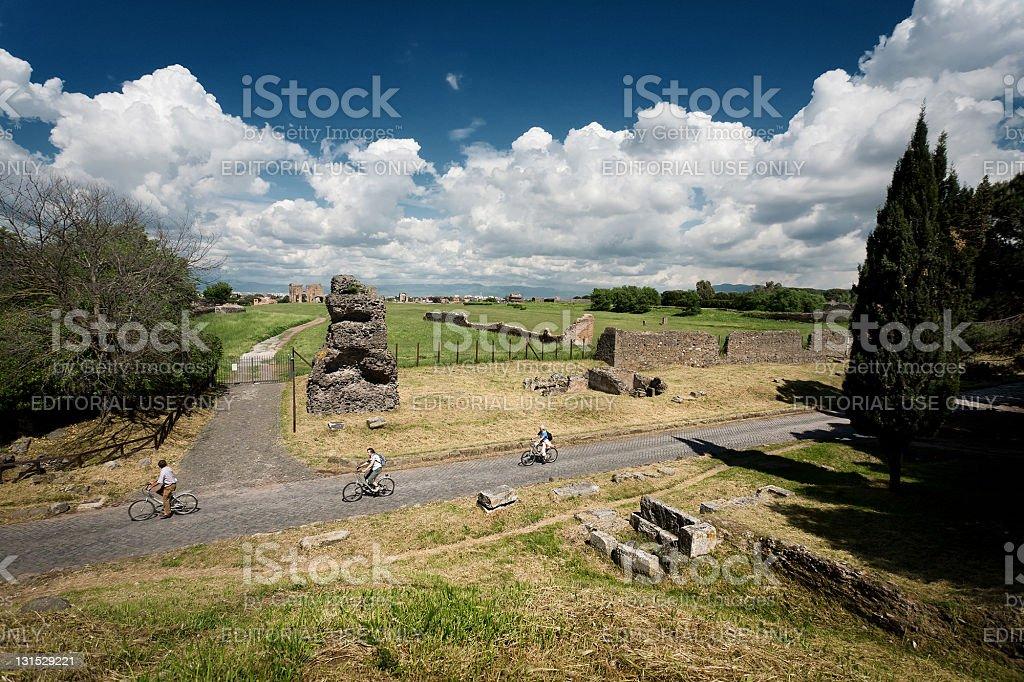Il Appian way a Roma, o Via Appia Antica - foto stock
