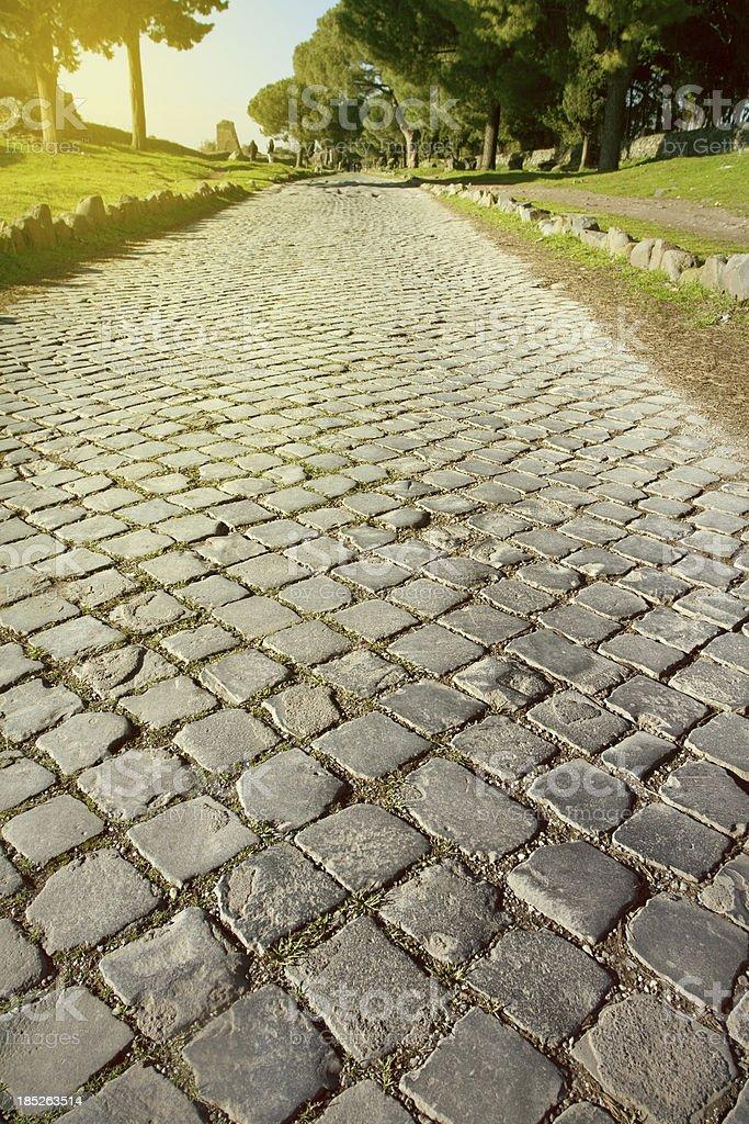 La Appian way a Roma - foto stock
