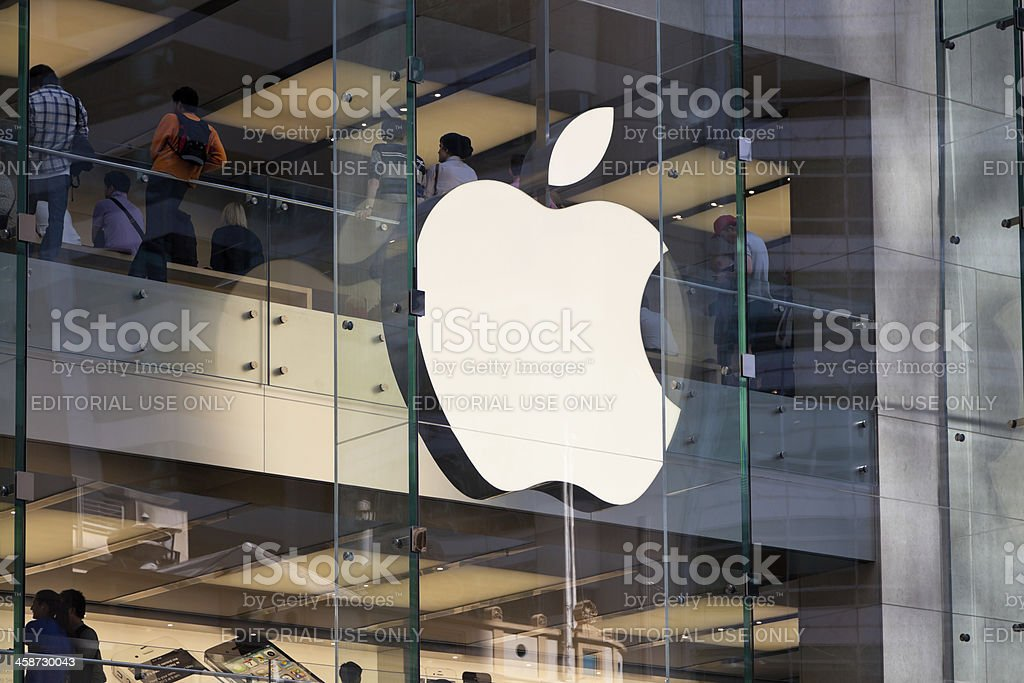 The Apple Computers Store in Sydney Australia stock photo