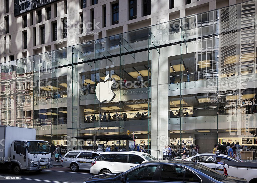 The Apple Computers Store in Sydney Australia royalty-free stock photo