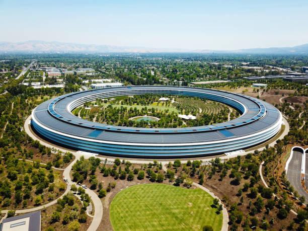 the apple headquarters, apple park - apple computers foto e immagini stock