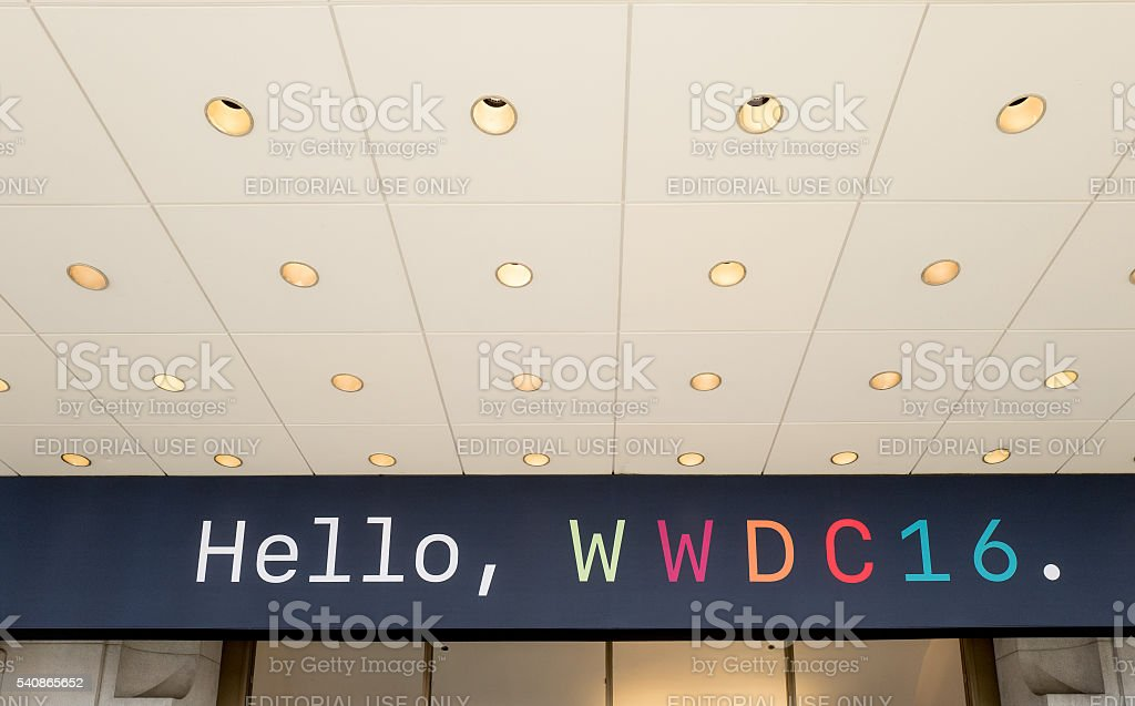 The Apple Worldwide Developers Conference  2016 stock photo