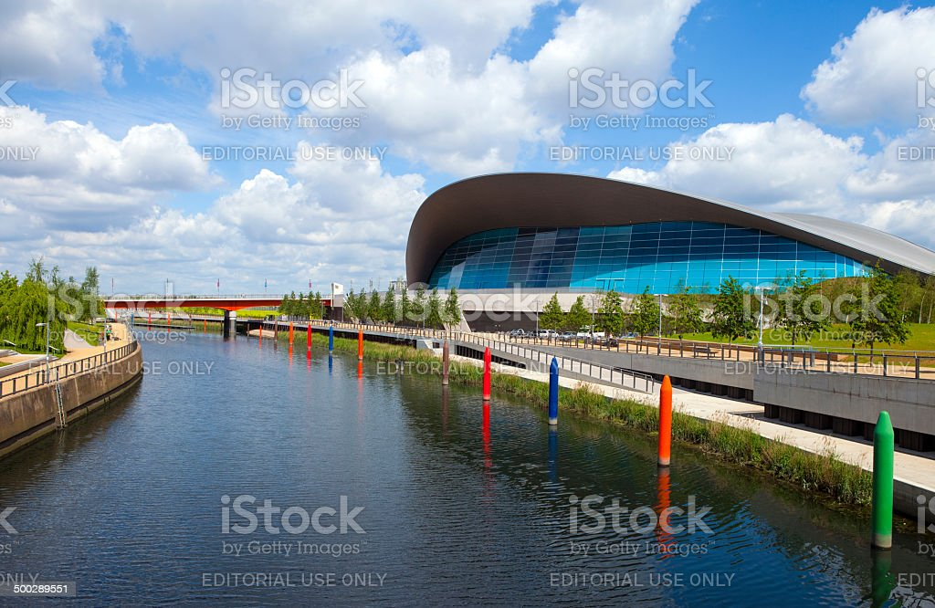 The Aquatics Centre in the Queen Elizabeth Olympic Park in London stock photo
