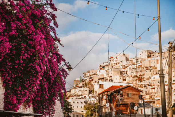 The Arabic Styled Cityscape The overview of arabic area in Jerusalem,Israel. east jerusalem stock pictures, royalty-free photos & images