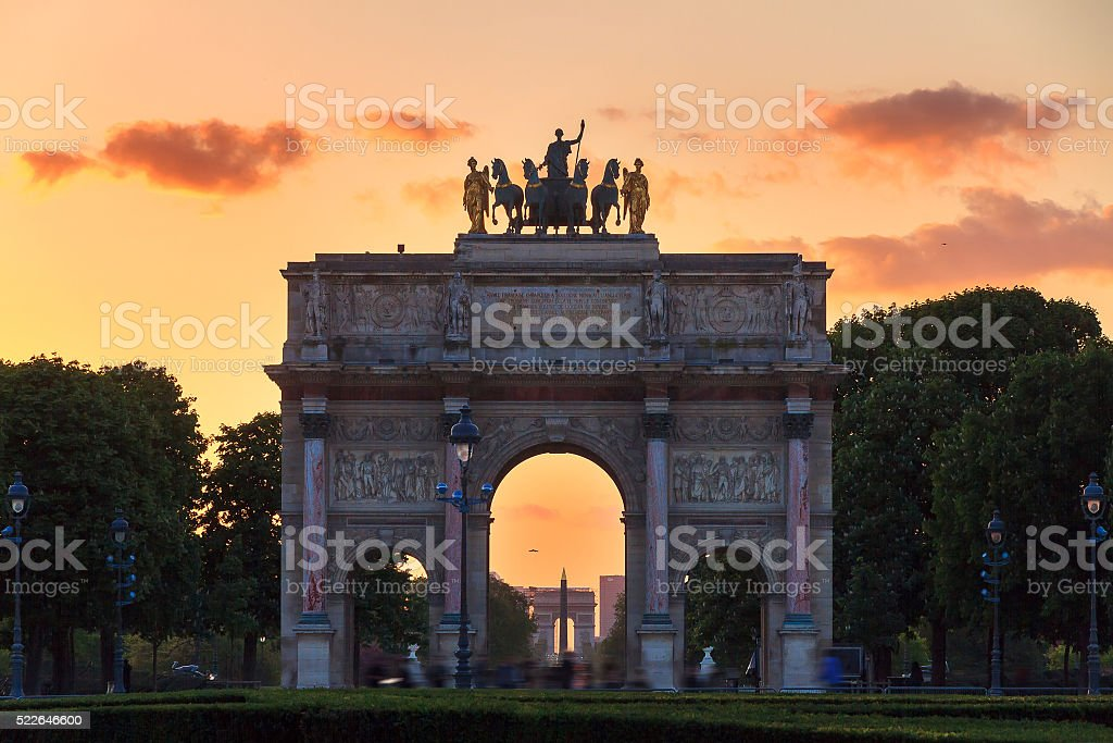 The Arc de Triomphe du Carrousel stock photo