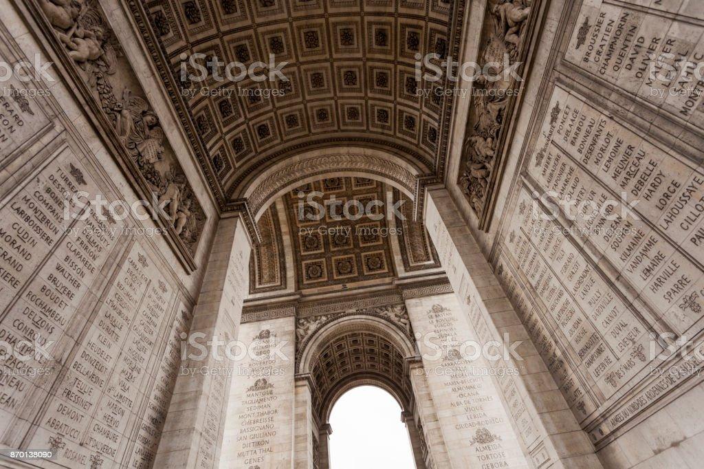 Das Denkmal des Arc de Triomphe in Paris – Foto