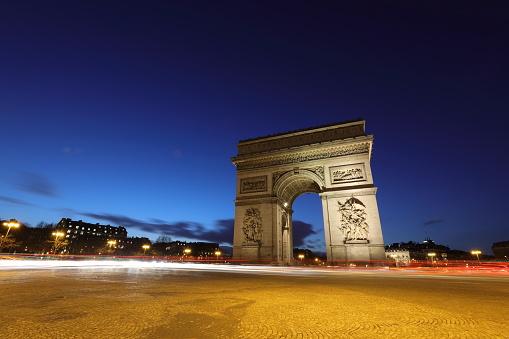 De Arc De Triomphe Parijs Frankrijk Stockfoto en meer beelden van Arc de Triomphe - Parijs