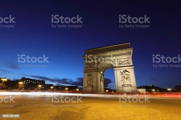 Triumfbågen Paris Frankrike-foton och fler bilder på Berömd plats