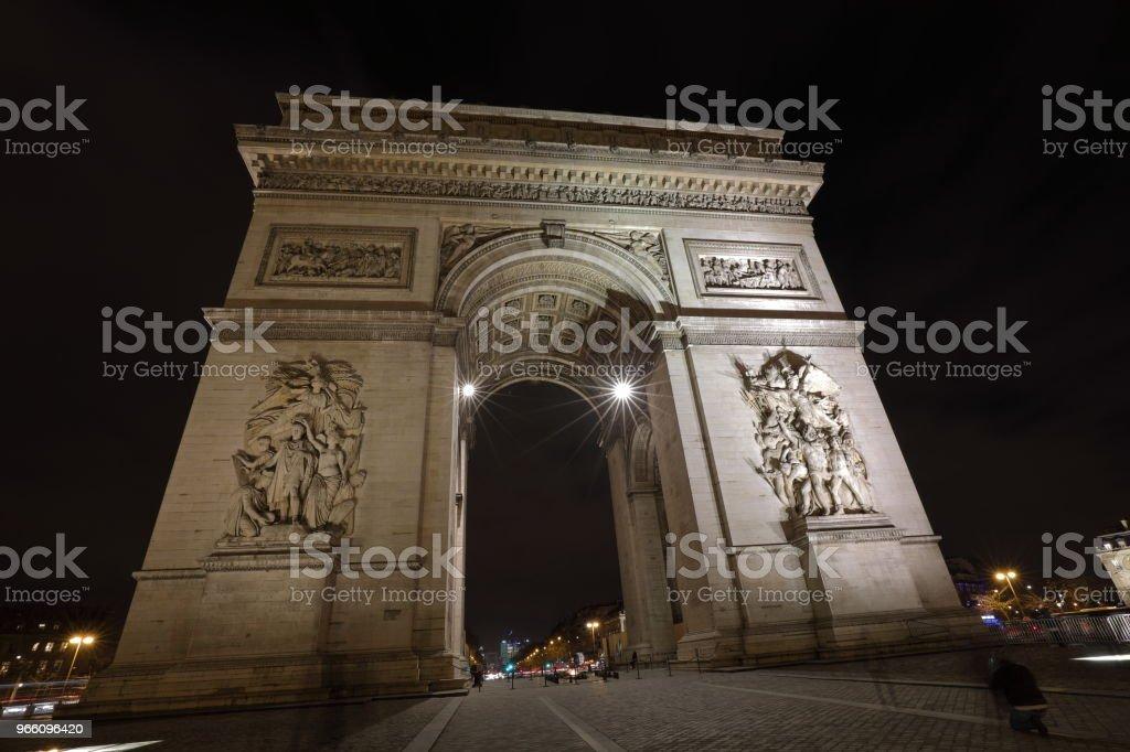 the Arc de Triomphe : Paris, France - Royalty-free Arco do Triunfo - Arco Foto de stock