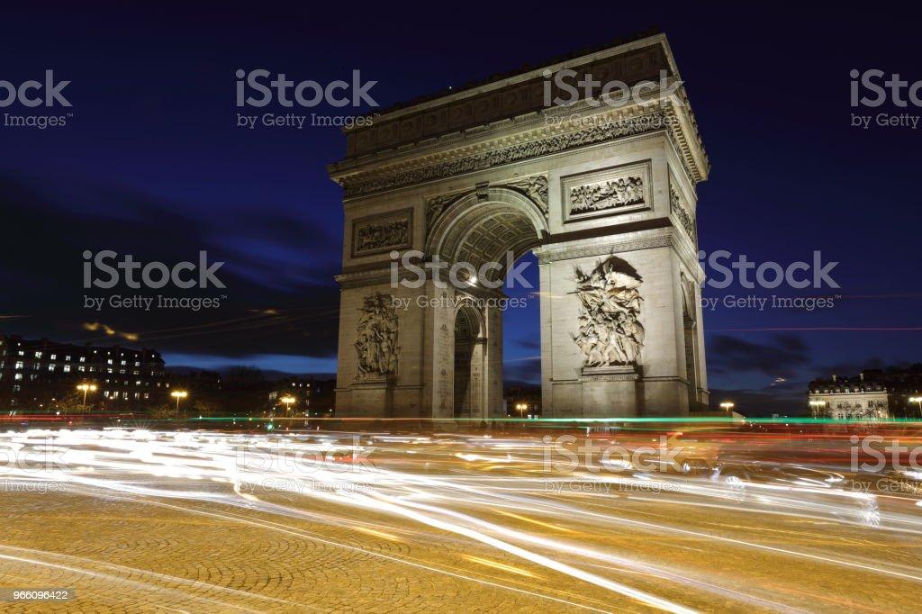 Triumfbågen: Paris, Frankrike - Royaltyfri Berömd plats Bildbanksbilder