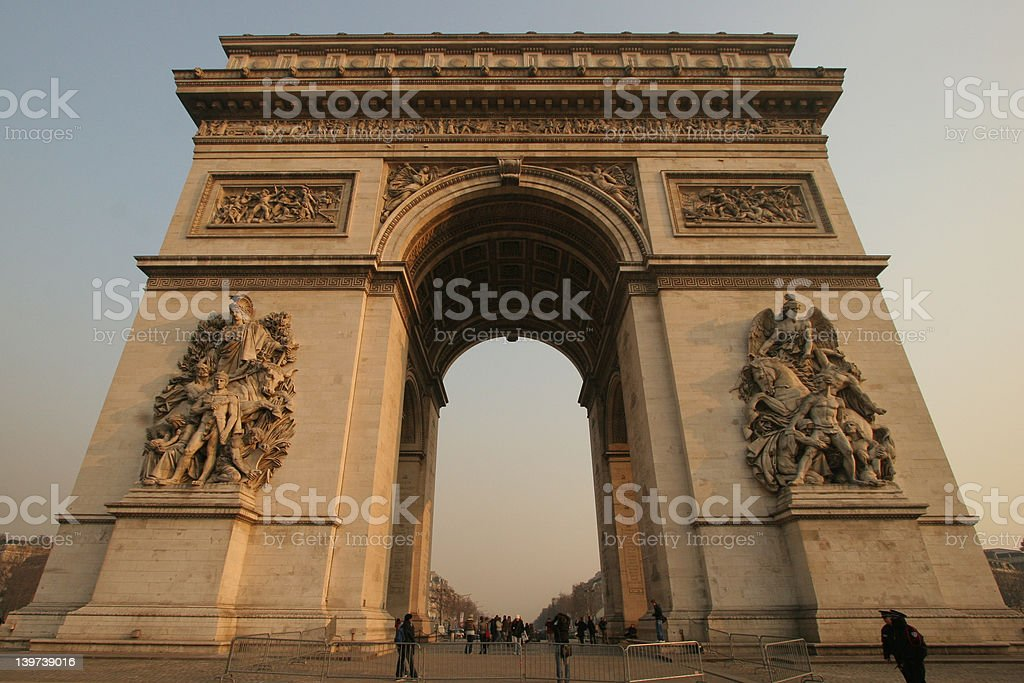 L'Arc de Triomphe stock photo