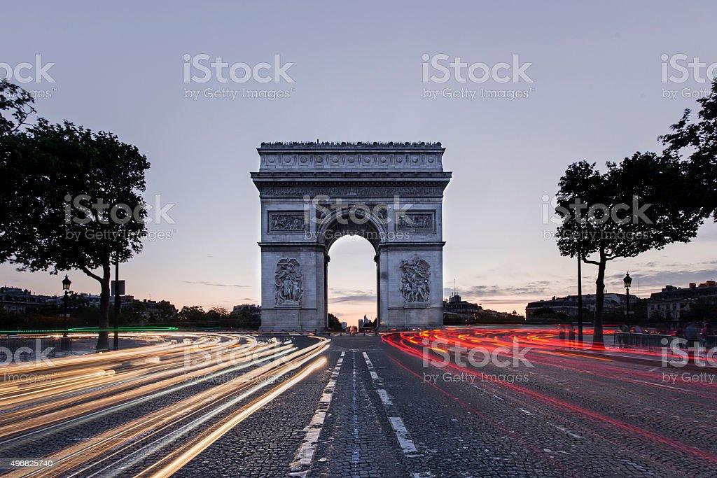 The Arc de Triomphe stock photo