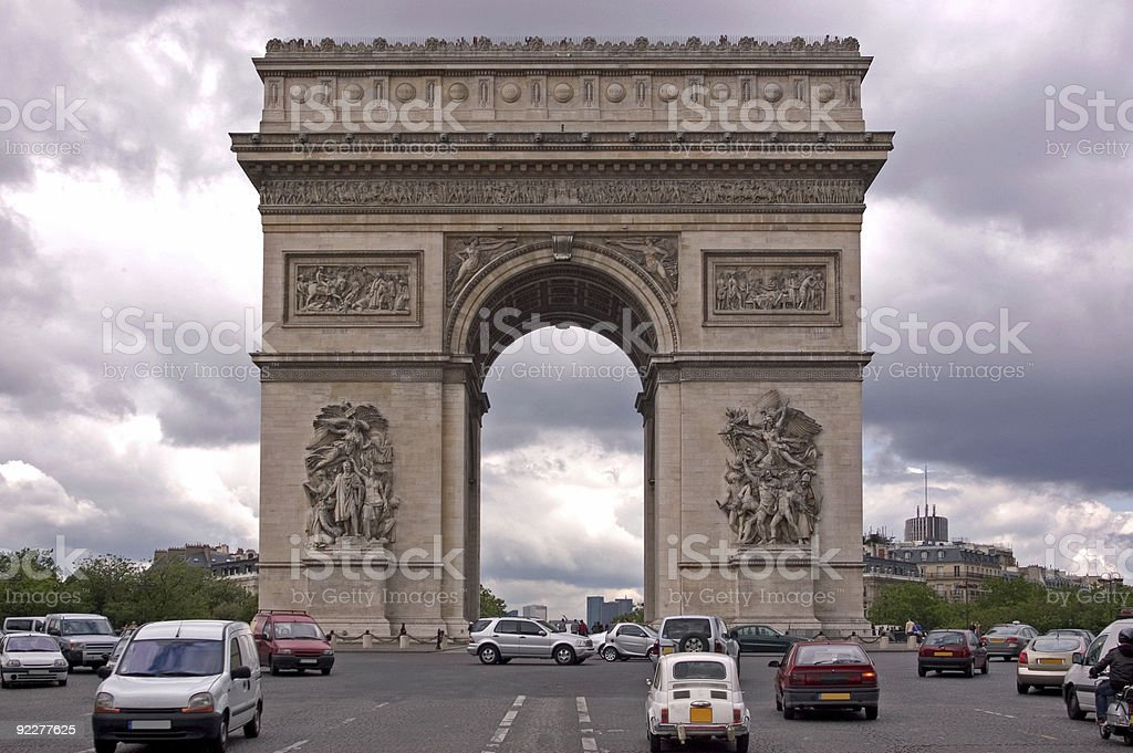 The Arc de Triomphe royalty-free stock photo