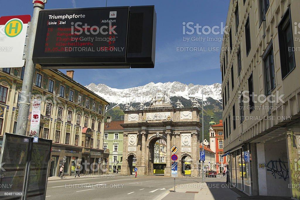 The arc of triumph, Innsbruck, Austria stock photo