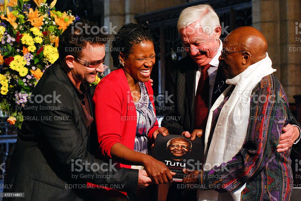 The Arch Bishop Emeritus Desmond Tutu stock photo