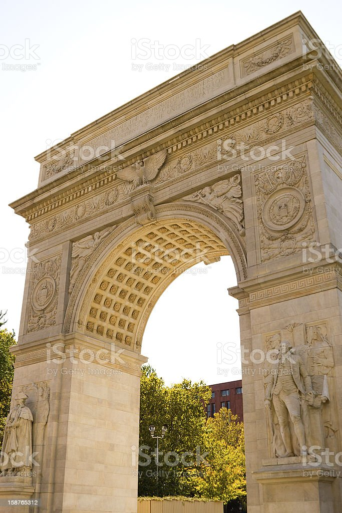 The arch in Washington Square, New York stock photo