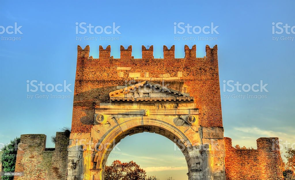 The Arch of Augustus at Rimini - Italy stock photo