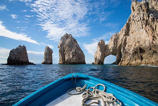 El Arco de Cabo san lucas mexico harbor archway cliff stock photo