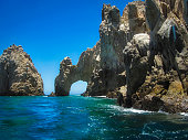 Stunning view of El Arco, The Arch of Cabo San Lucas, an iconic landmark and tourist attraction, Cabo San Lucas, Baja California Sur, Mexico