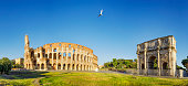 The Colosseum is an oval amphitheater in the centre of the city of Rome, Italy.