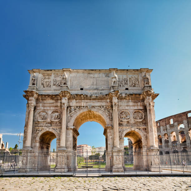 Der Triumphbogen des Konstantin (Arco di Costantino), Rom – Foto
