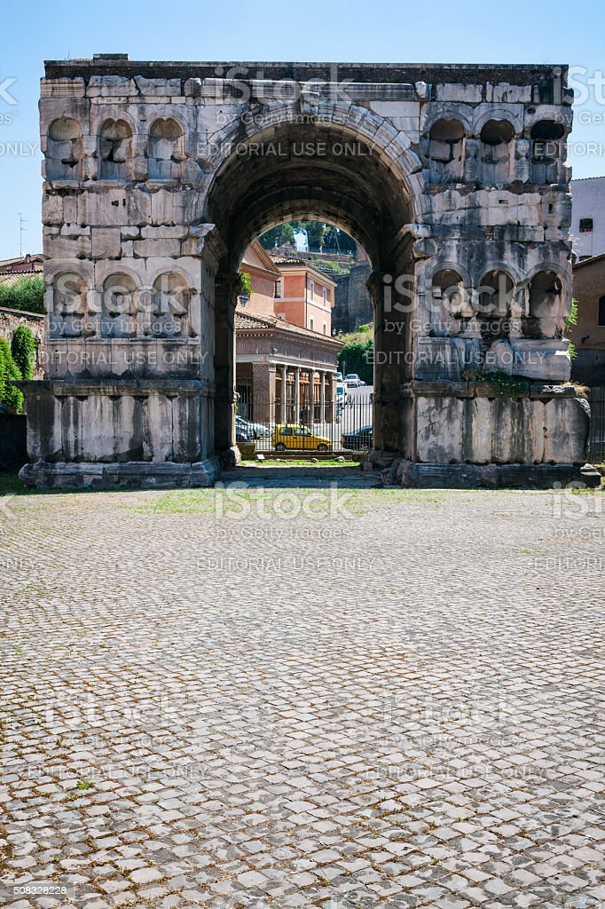 The Arch of Janus in Rome, Italy stock photo