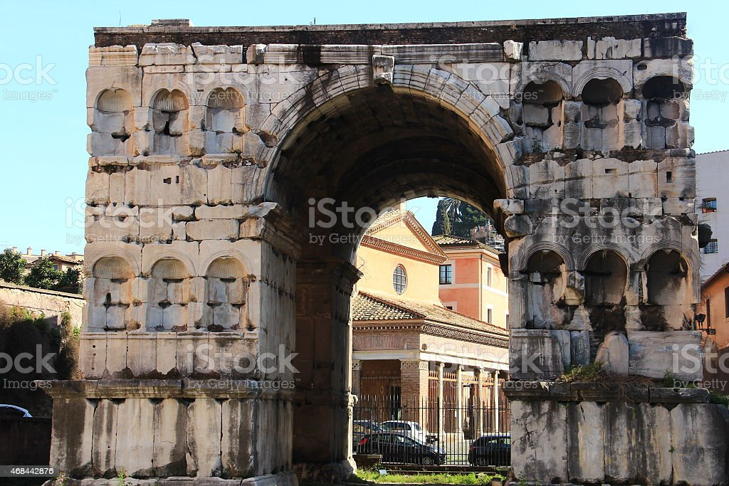 The Arch of Janus - Rome stock photo