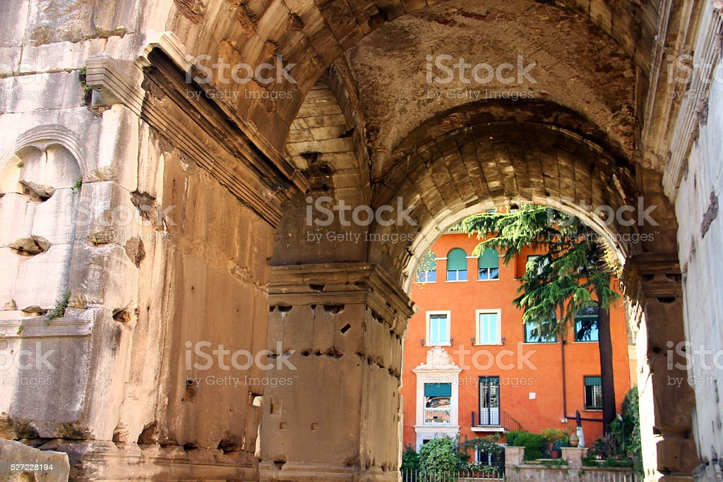 The Arch of Janus, Rome stock photo