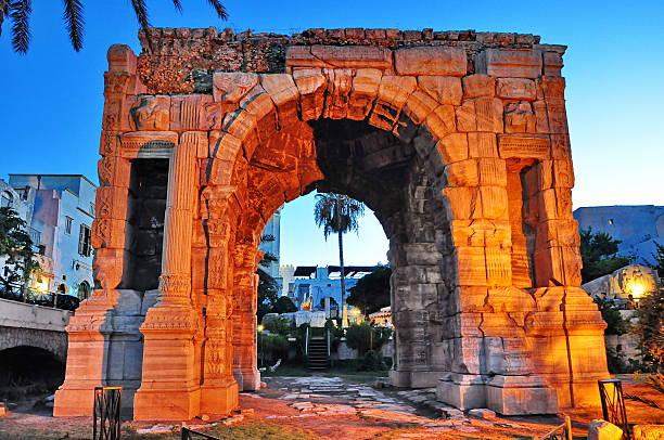 The Arch of Marcus Aurelius stock photo