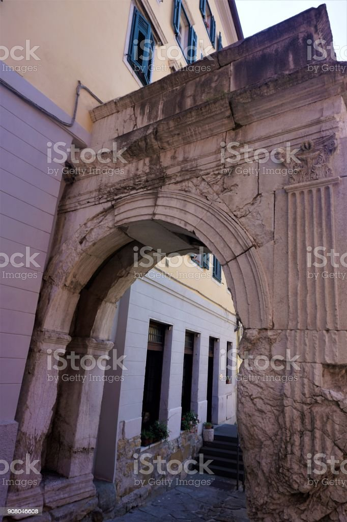 The Arch of Richard in Trieste stock photo