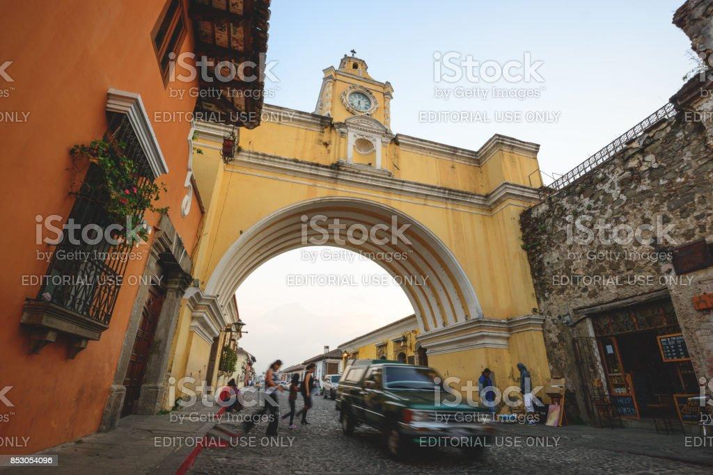 The arch of Sanata Catalina stock photo