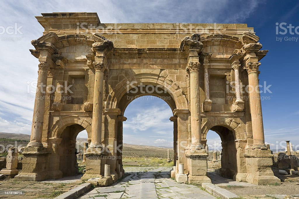 The Arch of Trajan stock photo