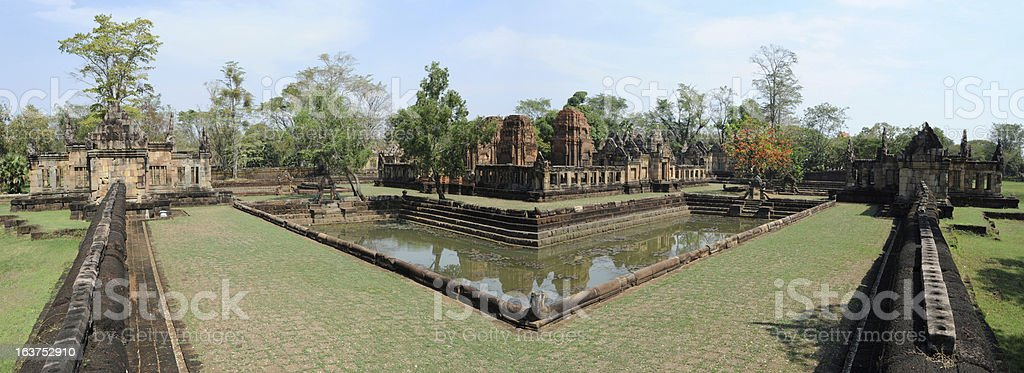 The archaeological site of Prasat Muang Tam royalty-free stock photo