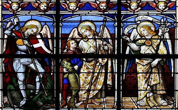 O Archangels (vitral - foto de acervo