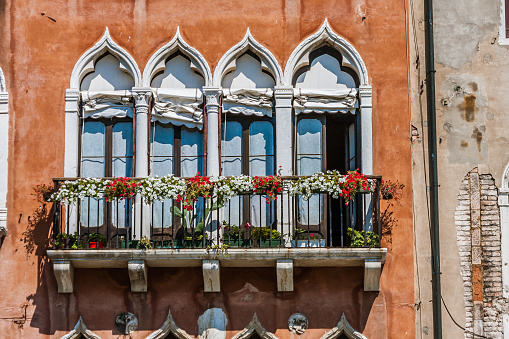 An element of the traditional architectural design of a Venetian house
