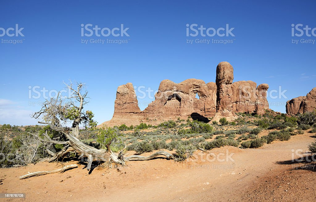 The Arches National Park : Windows Section royalty-free stock photo