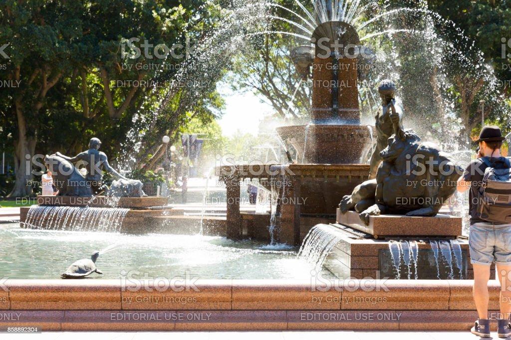 The Archibald Fountain in Hyde Park Sydney Australia stock photo
