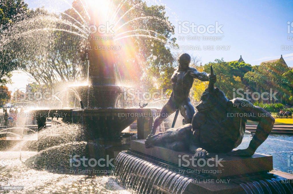 The Archibald Fountain, Sydney stock photo