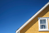 istock The architectural detail of a roofline on a home 173037127