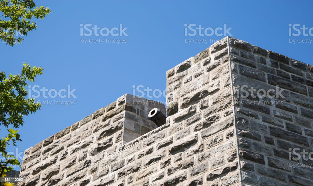 The architecture and skyline of Quebec City stock photo