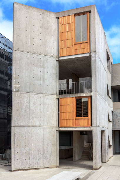 The architecture of Salk Institute for Biological Studies (UCSD). stock photo